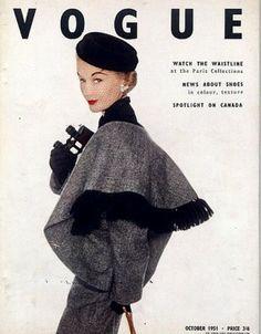 Lisa Fonssagrives-Penn, British Vogue Oct. 1951, cover by Irving Penn