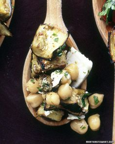 Eggplant Salad with Chickpeas and Feta