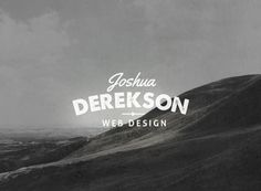 10 Name Based Logo Templates by Tom Anders Watkins, via Behance