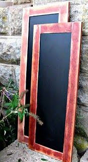DIY: Chalkboards made out of old cupboard doors - detailed DIY on how she transformed her $1 salvaged treasures.