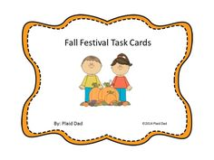 Fall Festival Task Cards  $  This resource has word problems that address multiple standards with a heavy concentration of multiplication.  #taskcards  #wordproblems  #multiplication  http://www.teacherspayteachers.com/Product/Fall-Festival-Task-Cards-1389461
