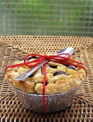 blueberry pie pronta para o picnic