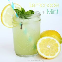 Sounds so refreshing! --> Lemonade with Mint recipe.