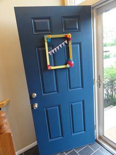 Painted front door.