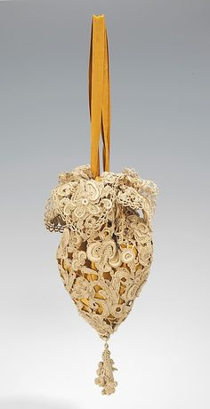 Callot Soeurs, Lace Evening Bag (Pouch), 1910-1915. Irish lace