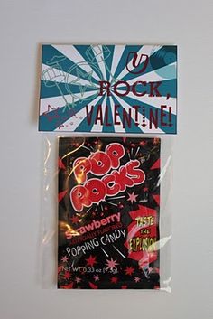 Printable Rock Star Valentine Treat Bag Toppers to use with Pop Rocks