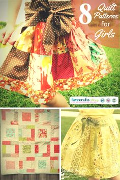 Quilters of all skill levels can choose a darling pattern from this lovely list of 8 quilt projects to make for girls.