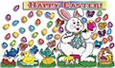 easter bulletin, happi easter, bulletin board, larg easter, color easter, larg happi, easter eggs, color display, easter bunny