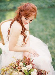 Romantic fall bridal