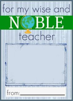 printable gift card holder for a Barnes and Noble gift card for the teacher