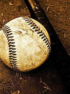 Baseball theme - black and white or sepia photos of baseballs and such.
