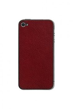 iPhone 4/4S Crimson Leather Back