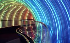 The famous rainbow tunnel from the Imagination Pavilion at Epcot ... mid 80's. I know this is still there ... I wish they would open the upper level of the pavilion back up ... but Tony Baxter said it correctly ... the pavilion doesn't work anymore. #Epcot #DisneyWorld #WaltDisney #Design #Studio2719 #Love
