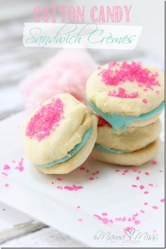 sweets: Cotton Candy Sandwich Cremes