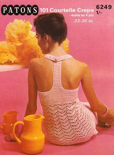 racy racer back crochet dress