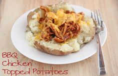 Week of 2/12 ~ BBQ Chicken Topped Potatoes | 5DollarDinners.com