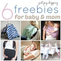 Here are 6 baby freebies!  You'll just pay shipping which means they are all a great deal!