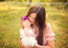 Newborn girl baby mommy & me  - facebook.com/sarahmattixphotographer