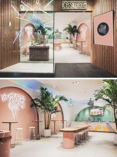 This Ice Cream Shop Draws Inspiration From The 1980's Memphis Design Movement