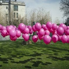 Use fishing line and golf tees to stake helium balloons in a yard for parties!!