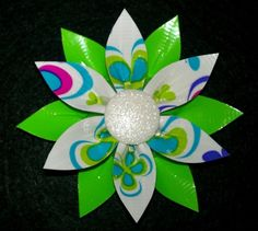 duct tape crafts | Duct Tape Crafts / duck tape flower