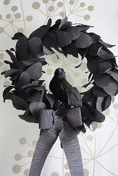 Halloween Crepe Paper wreath