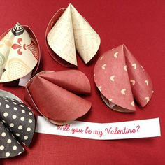 Valentine's Day fortune cookies.  #DIY
