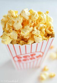 Buffalo Popcorn Recipe - Spicy Snack - wonkywonderful.com