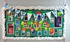 Back to the Books Media Center Library Bulletin Board for Back to School