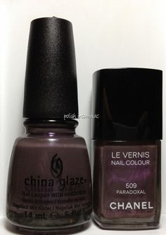 Chanel Paradoxal vs. China Glaze Jungle Queen - Are They Dupes?