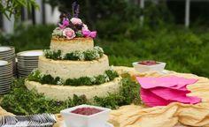 Cheese wheel wedding cake...like a personal dream come true!