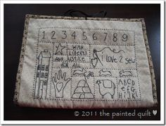 Colonial Sampler Sewing Caddy--free pattern and tutorial