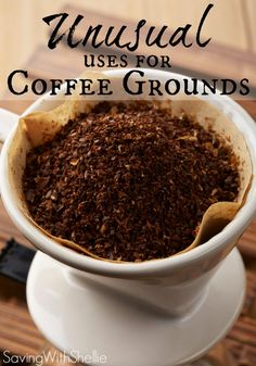 Coffee isn't just a great way to start your day. Get rid of furniture scratches, fight cellulite and more. You won't believe some of these unusual uses for coffee grounds. coffee diy, coffe ground