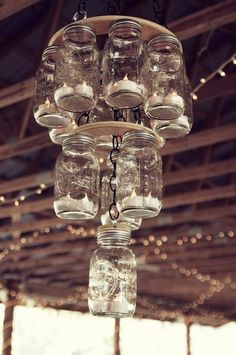 Ruffled® | See ads - Hand Made Mason Jar Chandelier - Decor