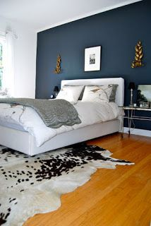The navy accent wall!
