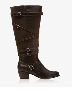 Extended Calf Faux Leather Boots | FOREVER21 PLUS - 2030187218