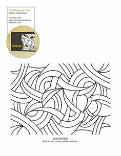 Paper Crafts & Scrapbooking November 2014 Patterns and Cut Files | Gold Rhapsody free pattern to make art deco card