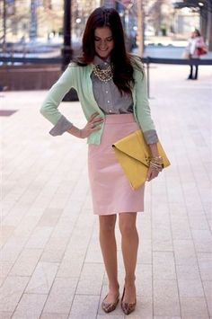 Pastel colour blocking