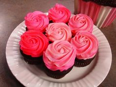 Pink Buttercream Rose Cupcakes #recipe from WLUK FOX 11 Living with Amy Hanten. #recipes #video