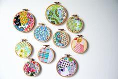 crazy patchwork mash ups in hoops