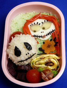 Nightmare Before Christmas Bento. #bento #food #japan #japanese #Night_before_Christmas