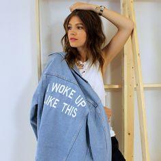Privaty Party I Woke Up Like This Jacket #behindthescenes #modeloffduty