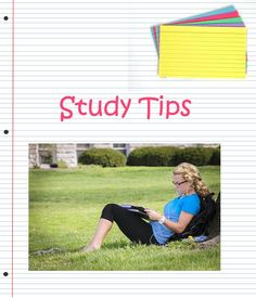Awesome study tips!