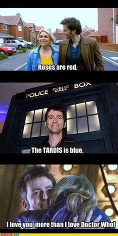 A Doctor Who valentine. More than I love Doctor Who? Whoa... That's friggin saying something...