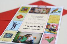 Boda estilo mexicano - Loteria invitations