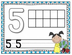Play-doh mats for numbers 1-10. Students will make the number with play-doh and use the ten frame to show the number. Then write the number with a dry erase marker. 2 options of mats included.