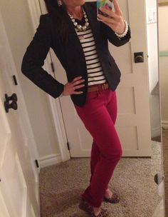 Monaco striped shirt. Work outfit