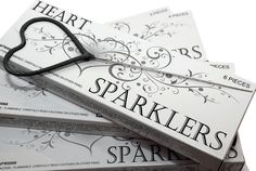Heart Shaped Sparklers for Weddings