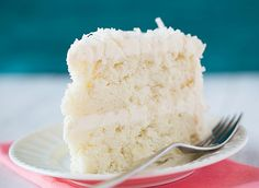 Coconut Cake with Coconut Meringue Buttercream Frosting from Brown Eyed baker