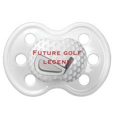 Future Golf Legend Golfing Baby Pacifier
